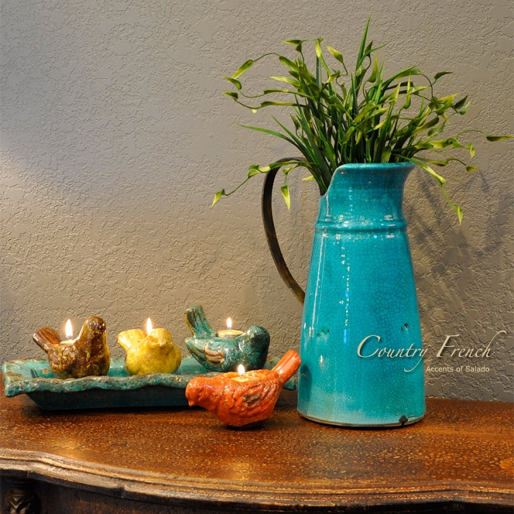 Country French Blue Vase
