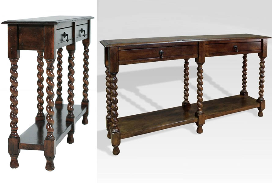 Barley Twist Narrow Console Table  33703