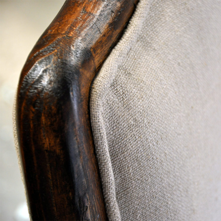 Grand Italiano Linen Arm Chair - Floor Sample- Sold As Is