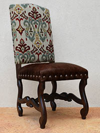 GiGi Arm Chair-DW Stain-Dark Brown Leather Seat