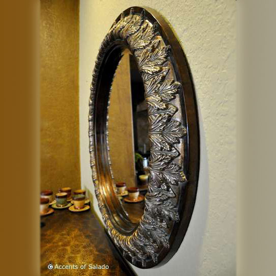 Acanthus large round mirror Odd shaped mirrors