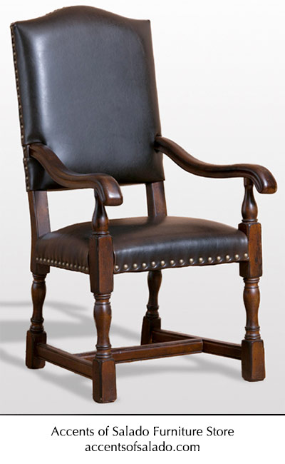 Parsons All Leather Arm Chair