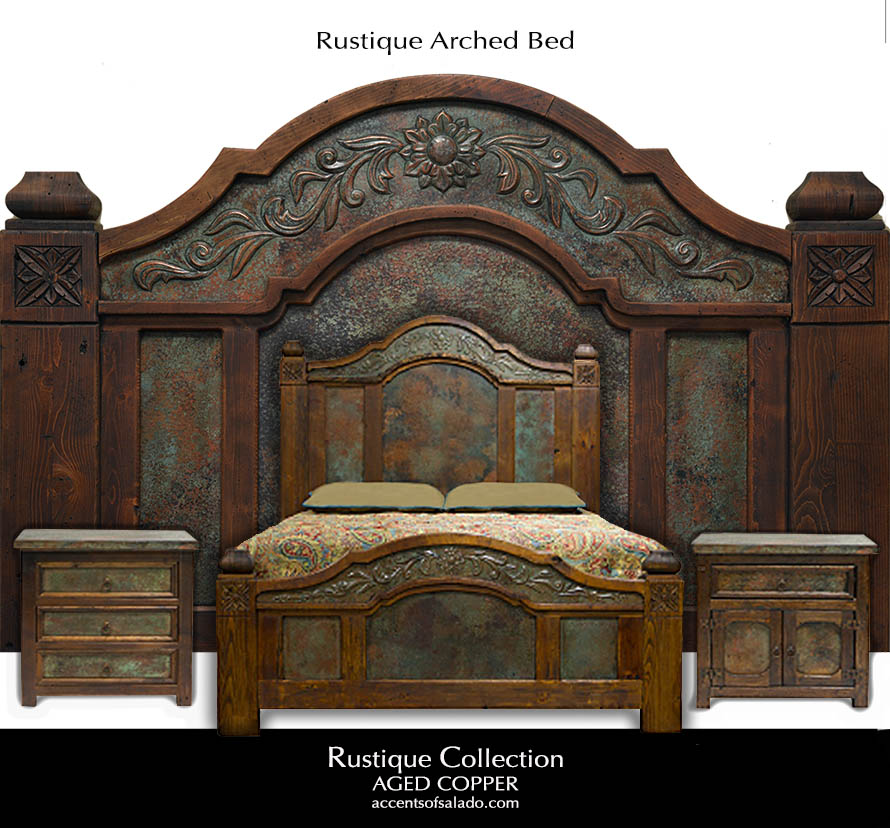 Rustique Arched King Size Bed