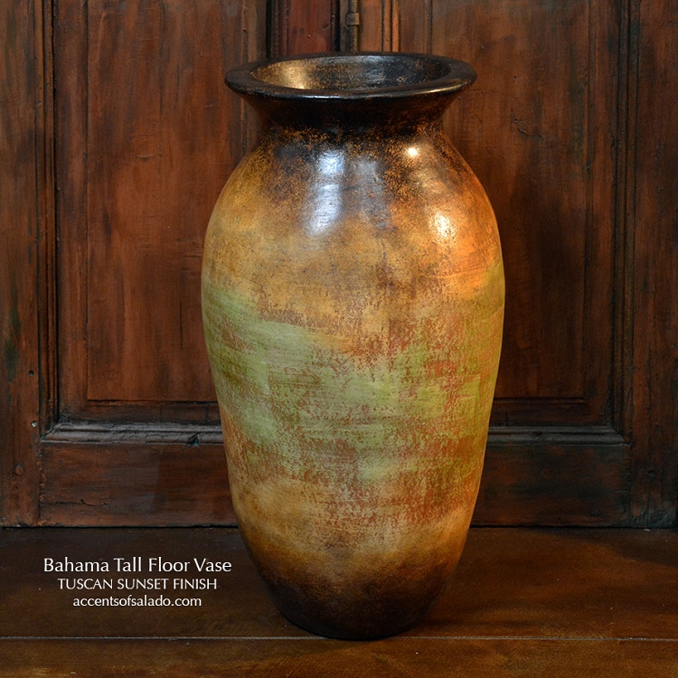 Bahama Floor Vase/Sunset Finish