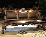 Old Spain Leather Bench