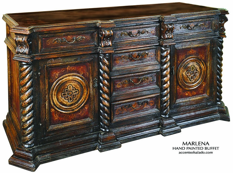 Marlena Old World Hand Painted Buffet/Server
