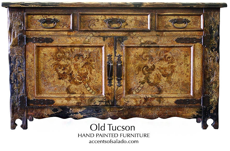 Old Tucson Hand Painted Buffet