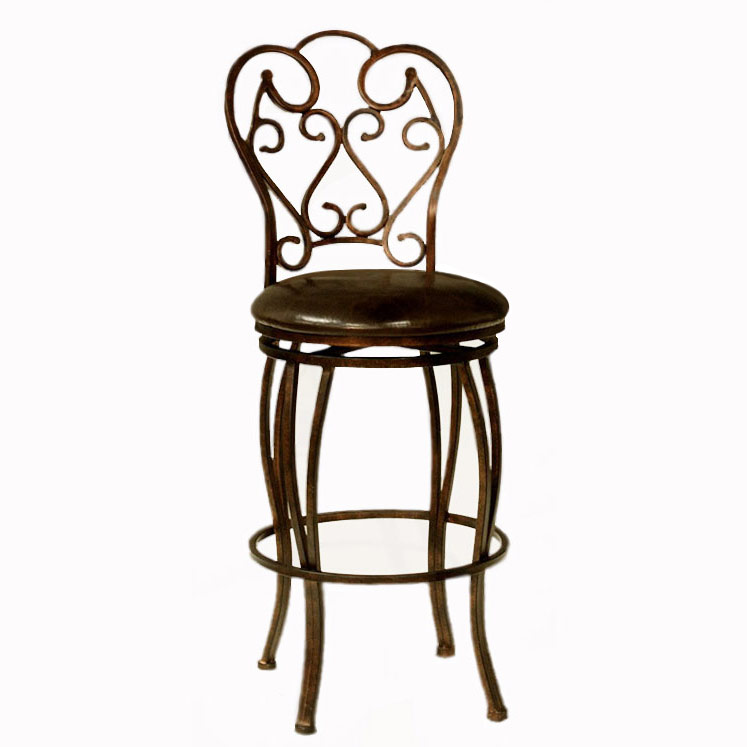 Cherise Metal/Leather Counter Stool