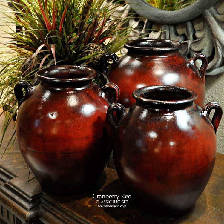 Cranberry Red Classic Jug Set 3