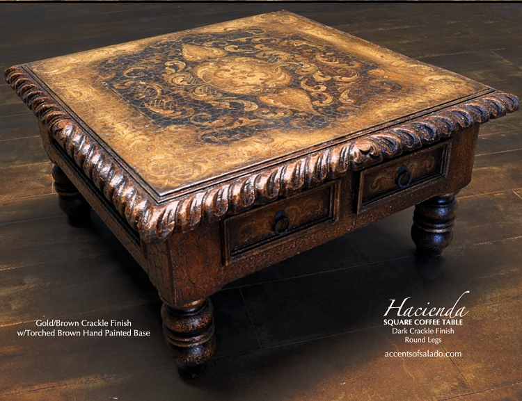 Hacienda Coffee Table Brown Round Leg