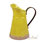 Country French Yellow Vase