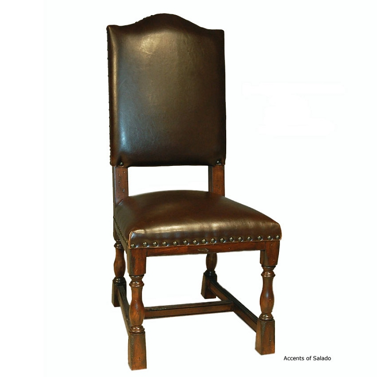 parsons leather dining chair