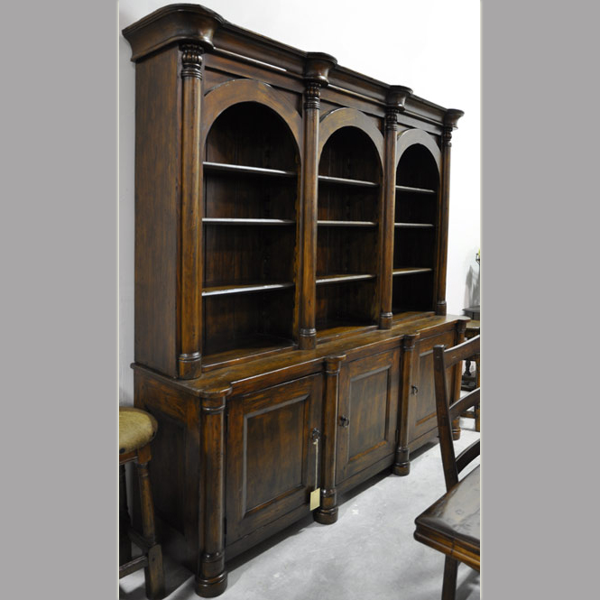 Crown Triple Arch Bookcase