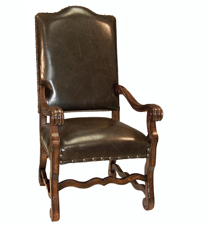 Italiano All Brown Arm Chair
