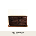 Islands Collection 8 Drawer Dresser