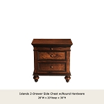 Islands 2 Drawer Side Table