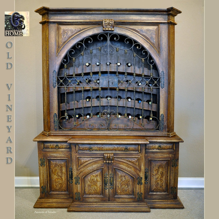Old Vineyard Hutch w/ Shelves - Carmel Finish