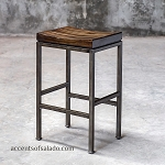 Coastal Living - Iron and Wood Counter Stool