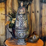Tall Hand Carved Madonna Statue