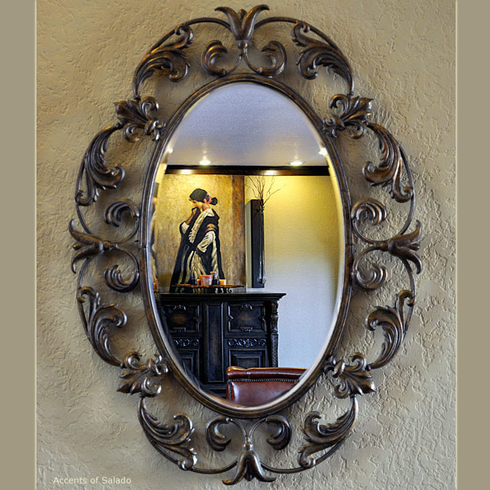 Celice scrolled mirror Odd shaped mirrors
