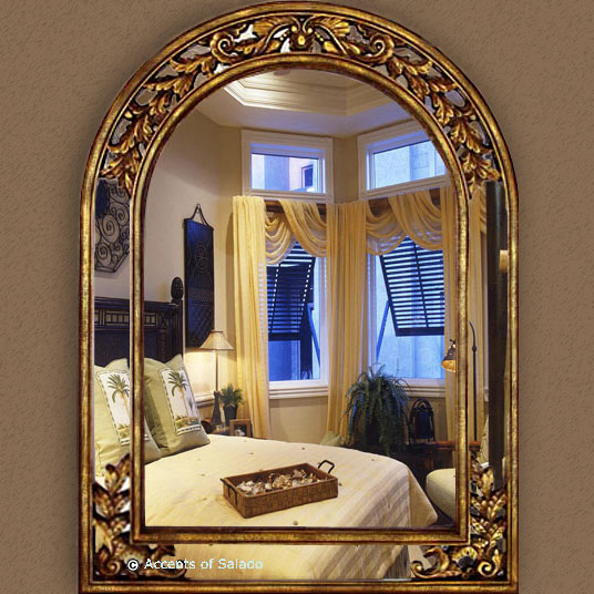 Large Gold Wall Mirror large gold arch mirror