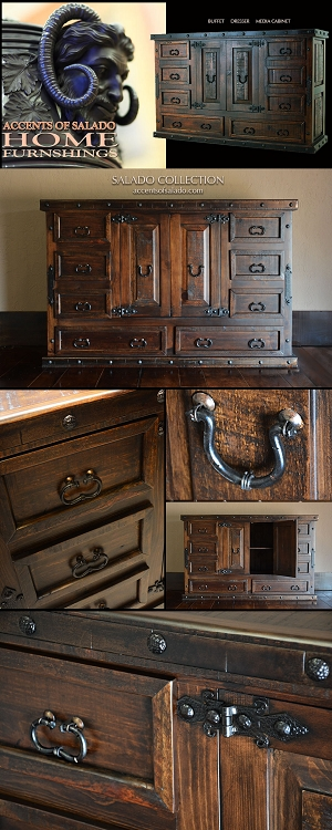 Salado Collection Rustic Plank Buffet/Dresser