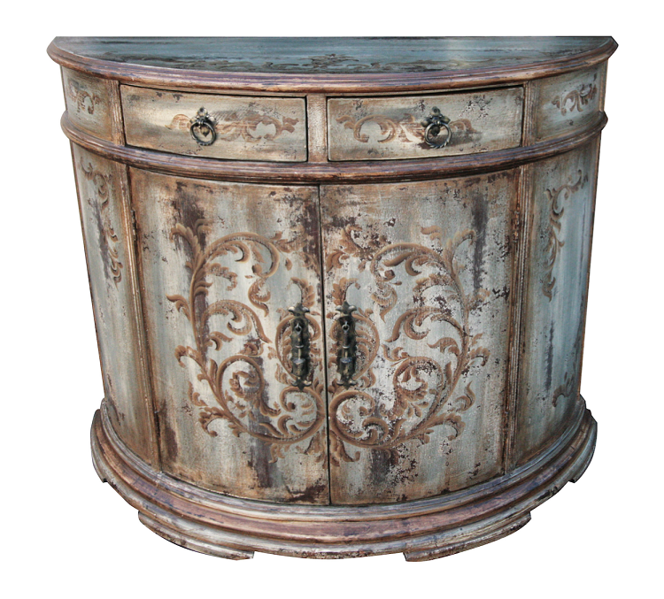 Old World Rustic Distressed Hand Painted Buffet/Server
