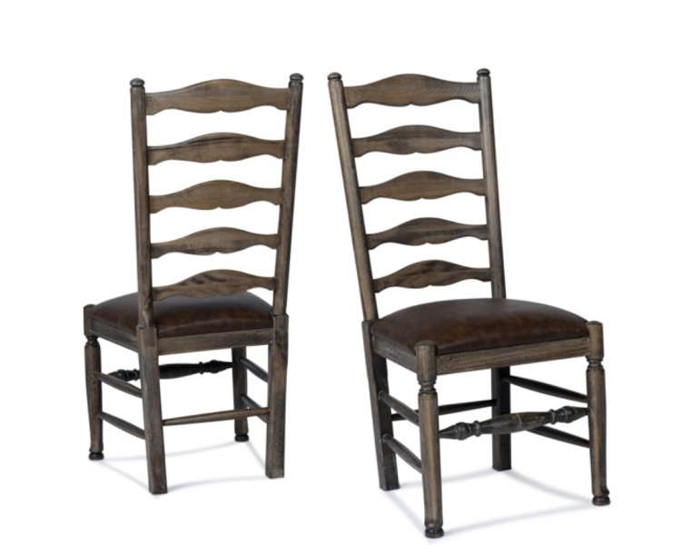 Driftwood - Traditional Ladder Back w/ Brown Seat