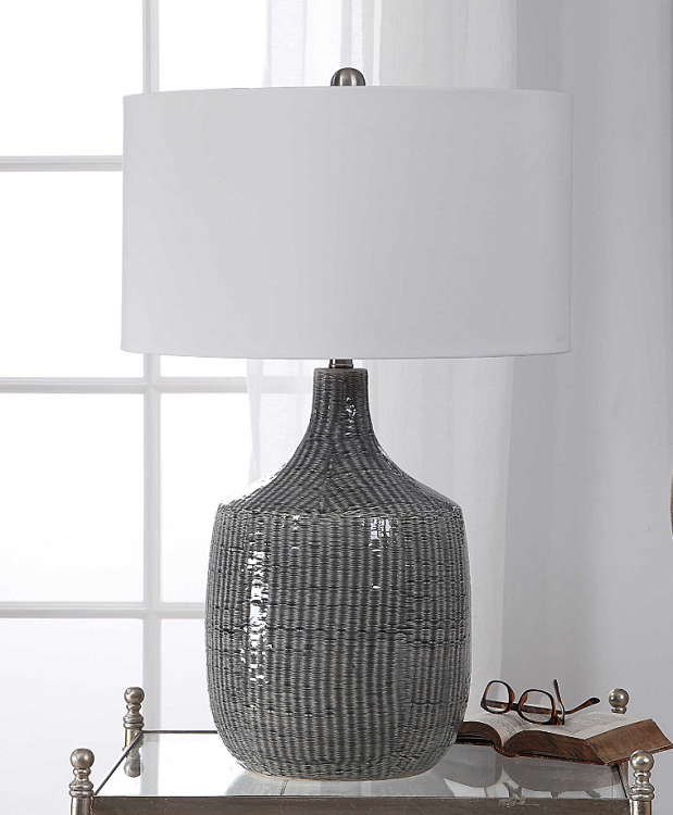 Coastal Living - Lamp Set 2 - Coastal Antiqued Gray Glazed