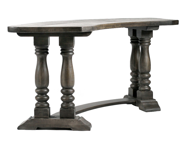 Coastal Living - Slate Finish - New Orleans Half Round Desk