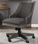 Coastal Living - Weathered Driftwood and Gray Linen Office Chair
