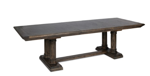 Montego 88-110 Dining Table Dark Walnut Finish
