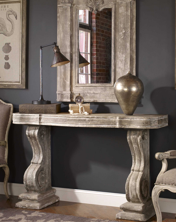 Coastal Living - Stone Look Console Table