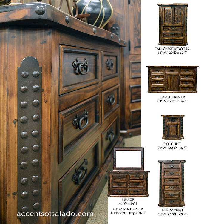 Sierra Collection - Old World Tuscan Bedroom Furniture