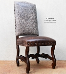 Custom Chair - Tooled Autumn Gray Grade 3 Top/Special Order Blue/Gray Seat
