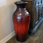 Bellmonte Tall Vase Cranberry Red