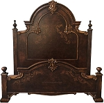 Isabella Distressed Dark Brown King Bed  - Special Order Finish