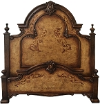 Isabella Distressed Gold King Bed