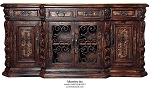 Montecito Old World Hand Painted With Iron Doors Buffet