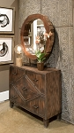 Coastal Living - Reclaimed Wood Mirror on Stand