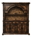 Obispo Wide Gated Hutch - Terra Dark Finish