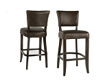 Brown Recast Leather Counter Stool
