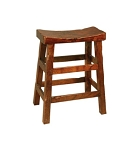 Solid Wood Saddle Stool 24