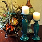 Torquesa Candle Holder Set 2