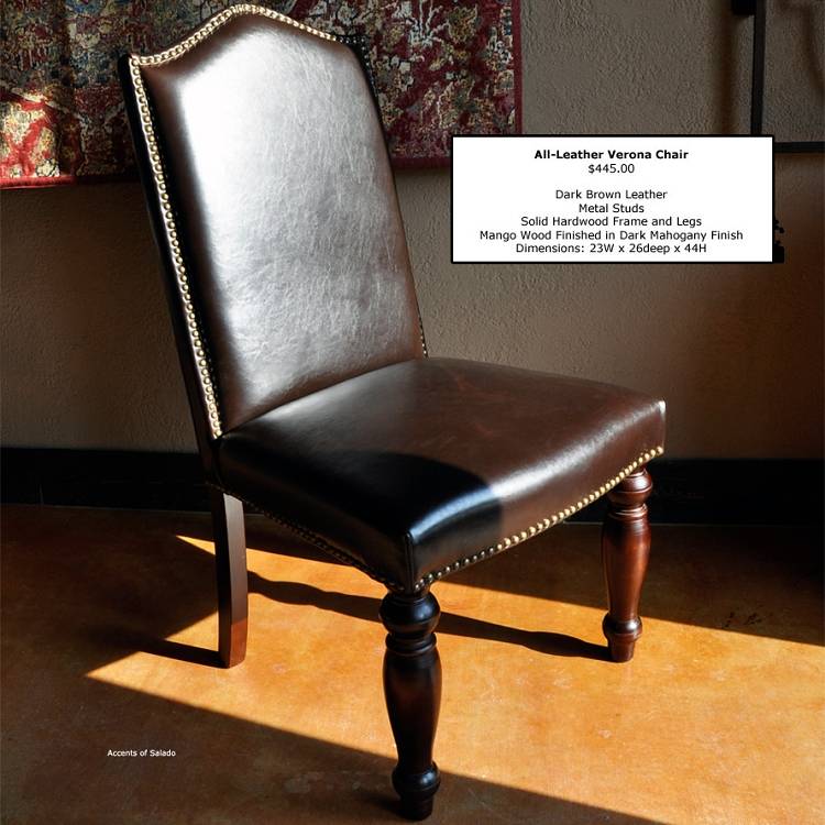 Verona Re-Cast Leather Side Chair