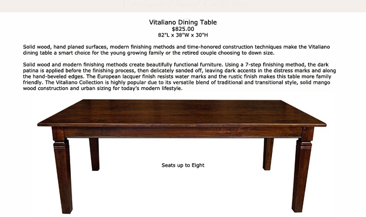Vitaliano Dining Table 82