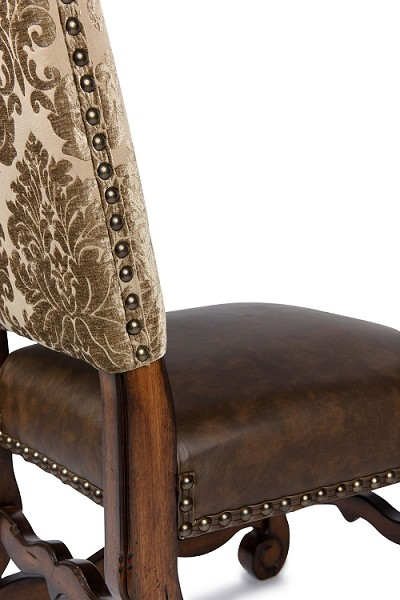 Italiano Side Chair Acanthus/Brown Seat