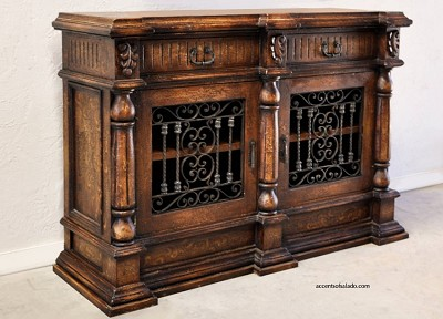 Acocella Buffet/Media Cabinet - Torched Brown
