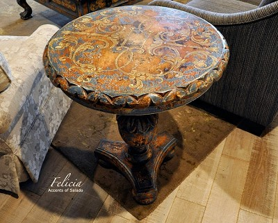 Felicia Side Table - Teal - Special Order