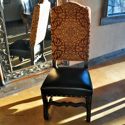 Clearance - Rust Medallion Side Chair - Brown Seat
